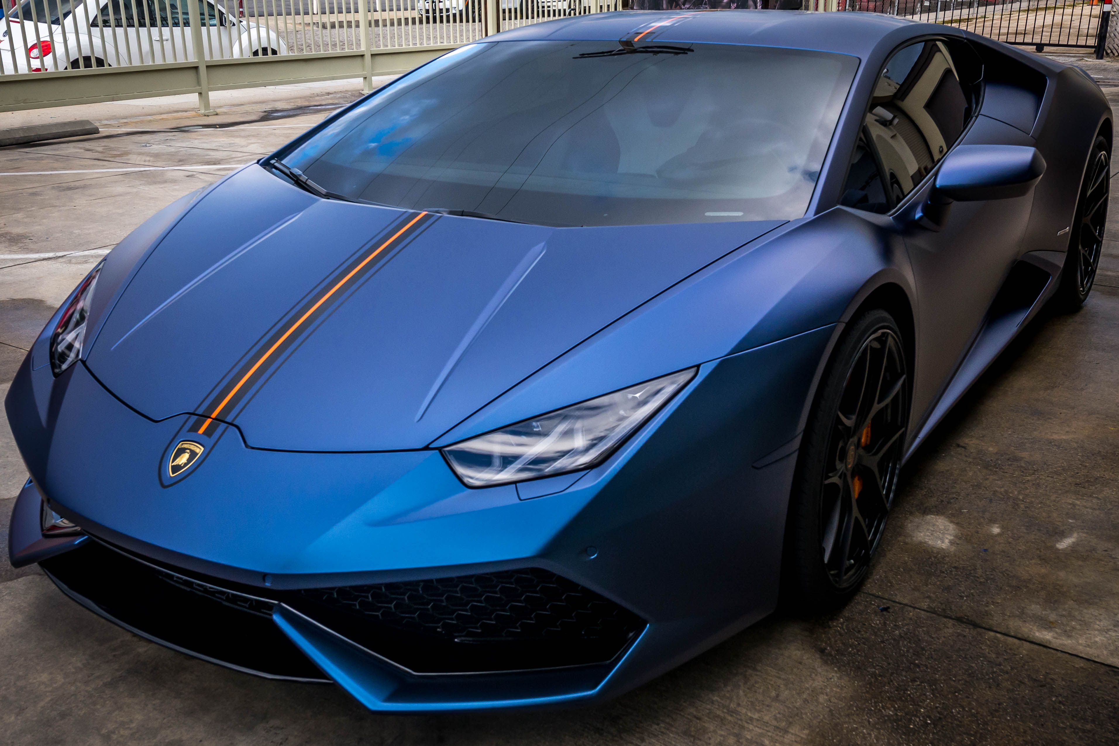 Lamborghini Huracan wrapped in Matte