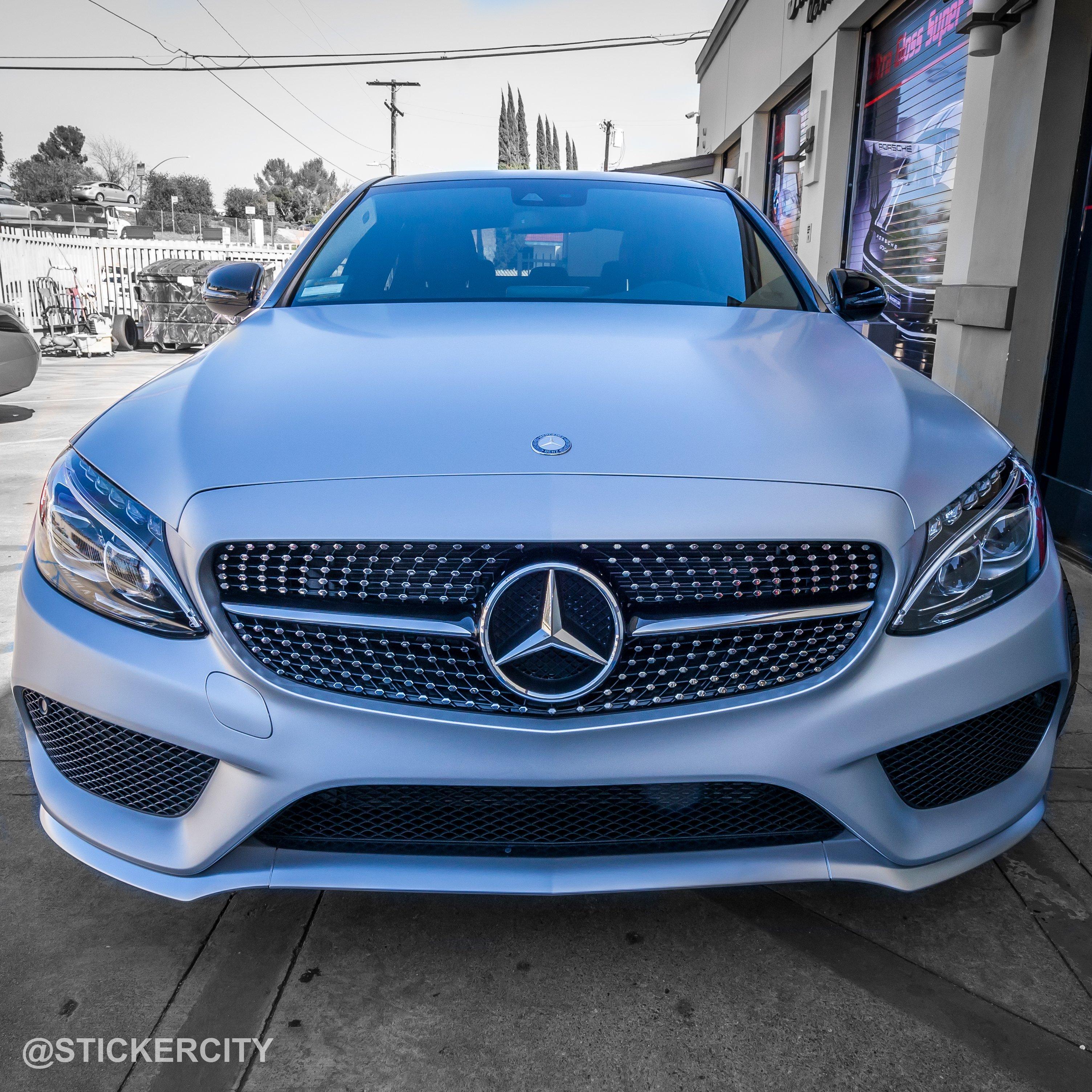 Satin White Aluminum Mercedes