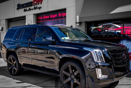 Chrome delete on Cadillac Escalade