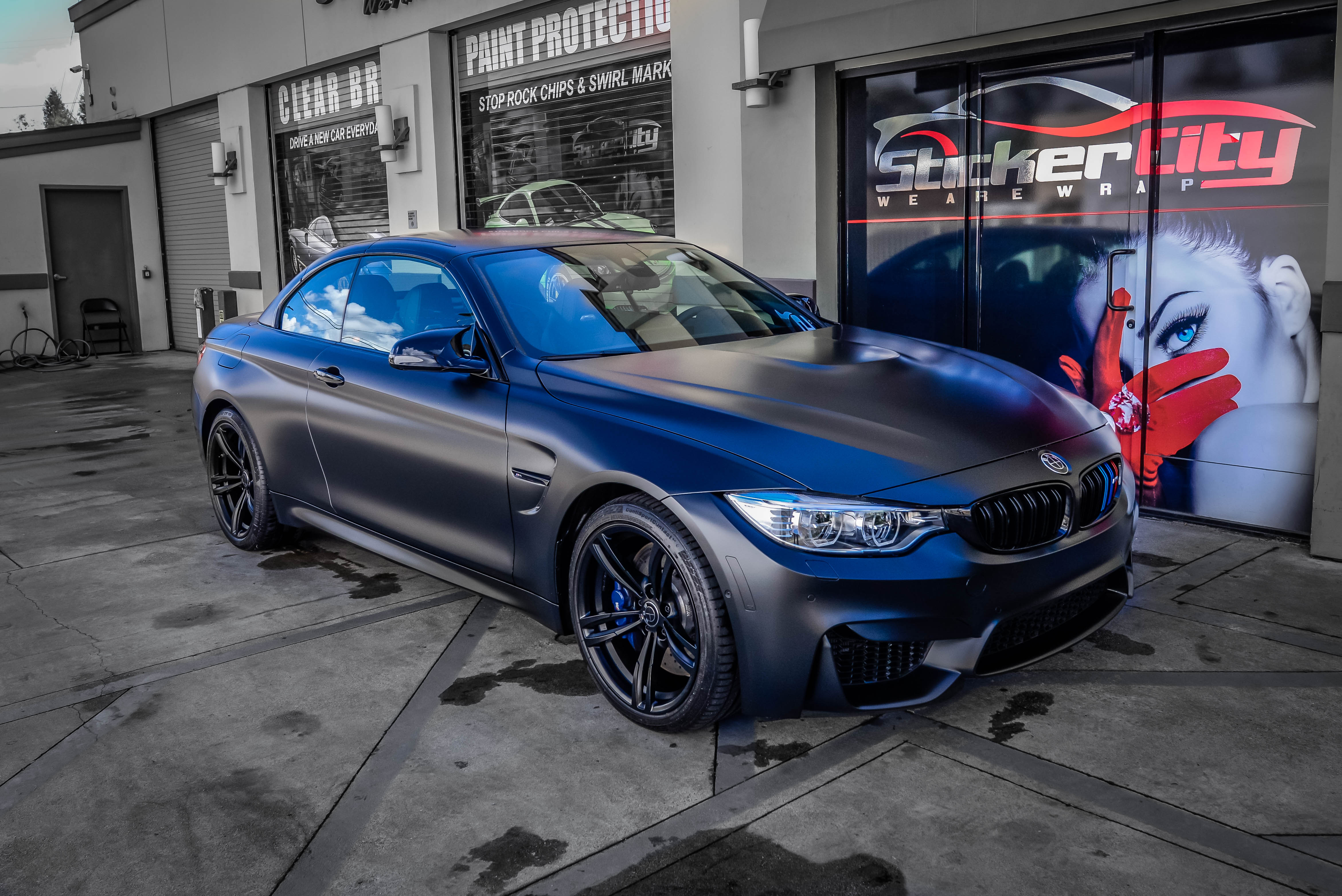 BMW M4 in Xpel Stealth Clear Bra