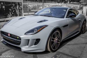 Satin Battleship Grey Jaguar F Type.