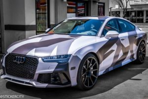 Camouflage wrap on Audi RS7