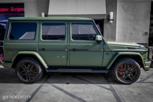 Matte Military Green Mercedes G Wagon