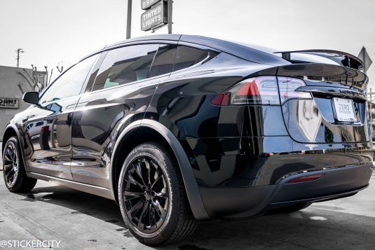Blacked out Tesla Model X