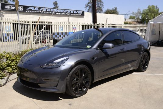 Tesla Model 3 with chrome delete
