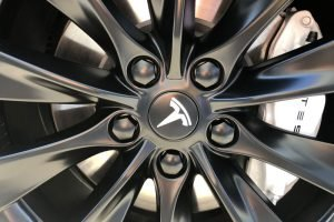 Satin Black Tesla Wheels