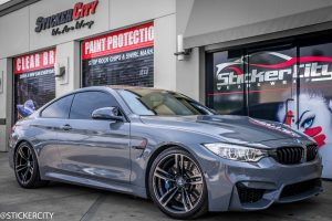 BMW M4 wrapped gloss grey (5)