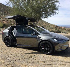 Tesla Model X in Black Chrome