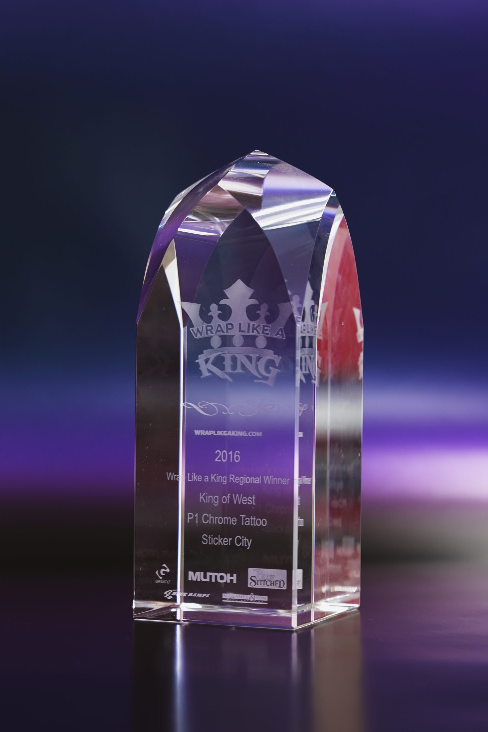 Avery Dennison in 2016 for winning the wrap like a king contest.